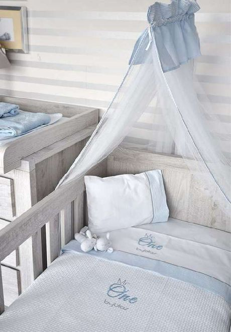 Βρεφική Κουβέρτα Κούνιας Πικέ Design 82 Mr One Blue Byblos