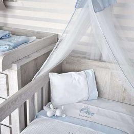 Βρεφική Κουβέρτα Αγκαλιάς Πικέ Design 82 Mr One Blue Byblos