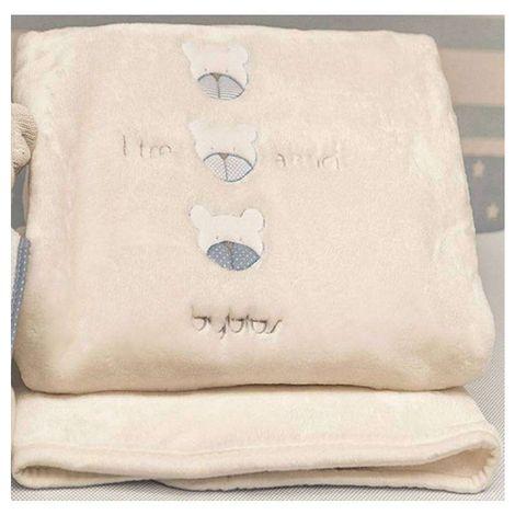 Βρεφική Κουβέρτα Κούνιας Velour Design 80 Amici Blue Byblos