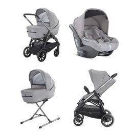 System Aptica Quattro Silk Grey Full Kit with car seat Cab Inglesina