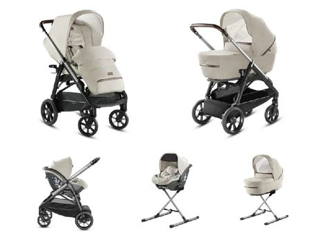 System Aptica Quattro Cachemire Beige Full Kit with car seat Cab Inglesina