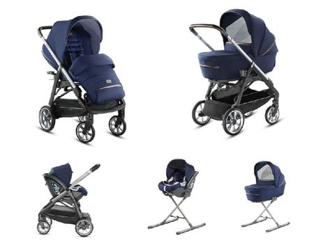 System Aptica Quattro College Blue Full Kit with car seat Cab Inglesina