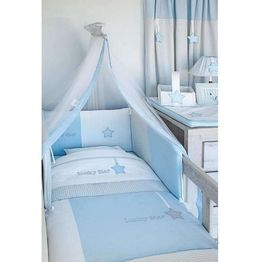 Baby Oliver Σετ Προίκας Κούνιας Βρεφικό 3τμχ Lucky Star Blue Design 309 46-6700/309