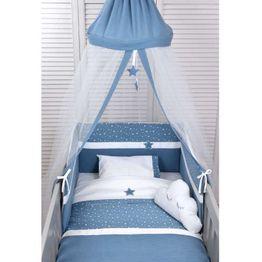 Baby Oliver Βρεφική Κουνουπιέρα Στρογγυλή Muslin Blue Design 374 46-6703/374