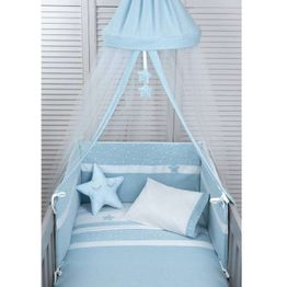 Baby Oliver Βρεφική Κουνουπιέρα Στρογγυλή Muslin Ciel Design 371 46-6703/371