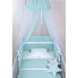 Baby Oliver Βρεφική Κουνουπιέρα Στρογγυλή Muslin Mint Design 373 46-6703/373
