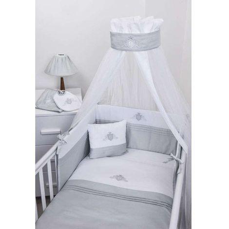 Baby Oliver Βρεφική Κουνουπιέρα Στρογγυλή Swarovski Satin Grey Design 383 46-6703/383