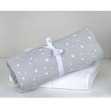 Baby Oliver Βρεφική Πάνα Αγκαλιάς 80X80 Μουσελίνα Muslin Grey Design 370 46-6748/370