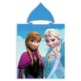 Μπουρνούζι Πόντσο με κουκούλα Βελουτέ 50X115 Frozen 30 Viopros