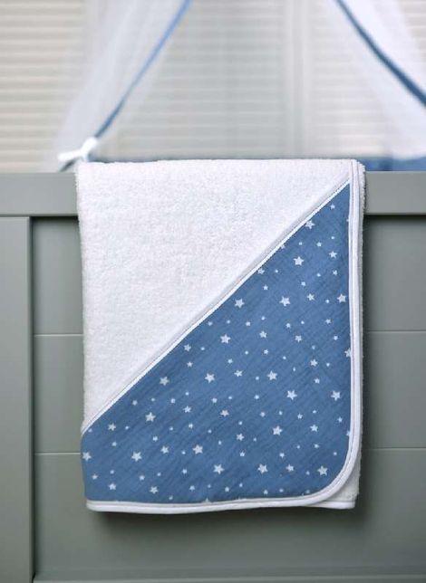 Μπουρνούζι Τρίγωνο Μπλε Μουσελινα des. 374 Baby Oliver