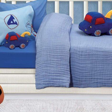 Das Home Βρεφική Κουβέρτα κούνιας Μουσελίνα 110X150cm Relax 6475