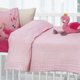 Das Home Βρεφική Κουβέρτα κούνιας Μουσελίνα 110X150cm Relax 6477