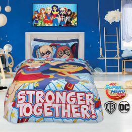 DAS KIDS ΠΑΙΔΙΚΗ ΠΑΠΛΩΜΑΤΟΘΗΚΗ SUPER HERO GIRLS 5005 ΣΕΤ ΜΟΝΗ 160Χ240