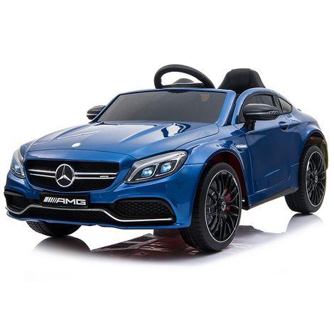Ηλεκτροκίνητο Αυτοκίνητο 12V Mercedes Benz C63s QY1588 Blue Moni