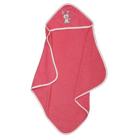 Κάπα μπουρνούζι Βρεφική με κουκούλα Ράμπιτ ροζ Viopros