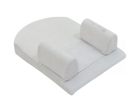 Memory foam sleep Βρεφικό μαξιλάρι με θέση τοποθέτησης ύπνου Grey Velvet 51X36 Kikka boo
