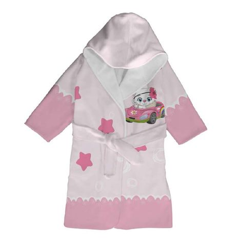 Klotsotiras Παιδικό Μπουρνούζι ΓΑΤΟΥΛΑ Μέγεθος 4 Ετών Pink