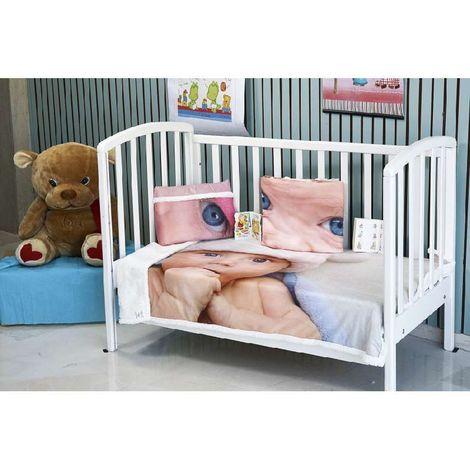klotsotiras Βρεφική κoυβέρτα κούνιας Baby digital 110Χ140 Pink