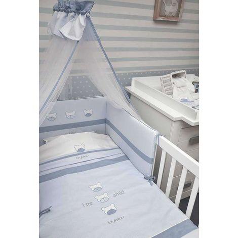 Byblos Σετ Προίκας Μωρού Κούνιας 3τμχ Design 80 Amici Blue