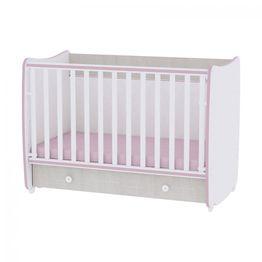 Πολυμορφικό Μετατρεπόμενο Βρεφικό Κρεβάτι Lorelli Dream New 60x120 Pink Crossline