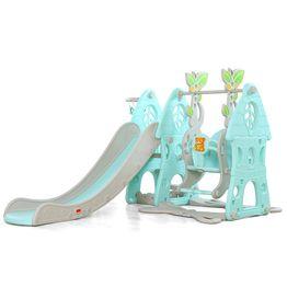 Moni Τσουλήθρα Slide με κούνια και μπάσκετ Wonder Blue 18009