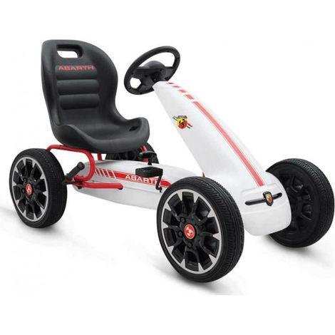 Παιδικό αυτοκινητάκι Go-cart Abarth 500 Assetto White Cangaroo