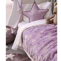 Palamaiki Βρεφική Κουβέρτα Αγκαλιάς Fleece Sky Girl 5205857203061 80Χ90