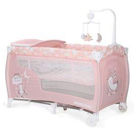 Παρκοκρέβατο Dolce Sonno 2 layers Pink Rabbits Kikka Boo