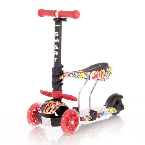 Πατίνι Smart Scooter με κάθισμα Red Graffiti Lorelli