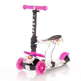 Πατίνι Smart Scooter με κάθισμα Pink Flowers Lorelli