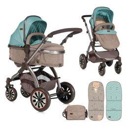 Πολυκαρότσι Aurora 3 in 1 Beige Green Bear Lorelli