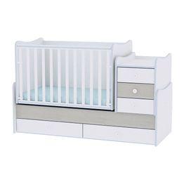 Πολυμορφικό Μετατρεπόμενο Παιδικό Κρεβάτι Maxi Plus White/Blue Elm Lorelli