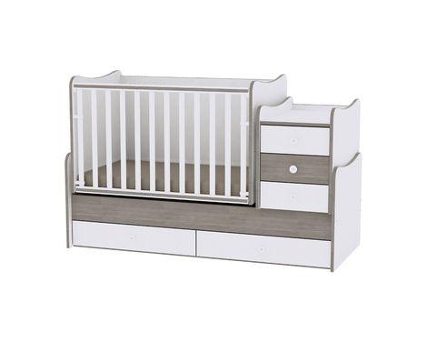 Πολυμορφικό Μετατρεπόμενο Παιδικό Κρεβάτι Maxi Plus White/Coffee Lorelli