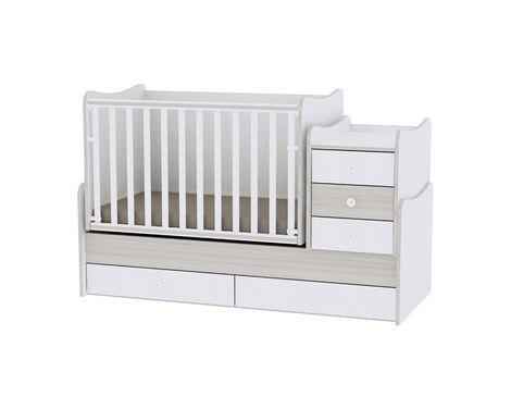 Πολυμορφικό Μετατρεπόμενο Παιδικό Κρεβάτι Maxi Plus White/Light Oak Lorelli