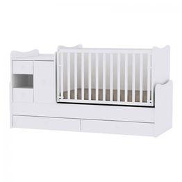 Πολυμορφικό Μετατρεπόμενο Προεφηβικό Κρεβάτι Mini Max Lorelli New White