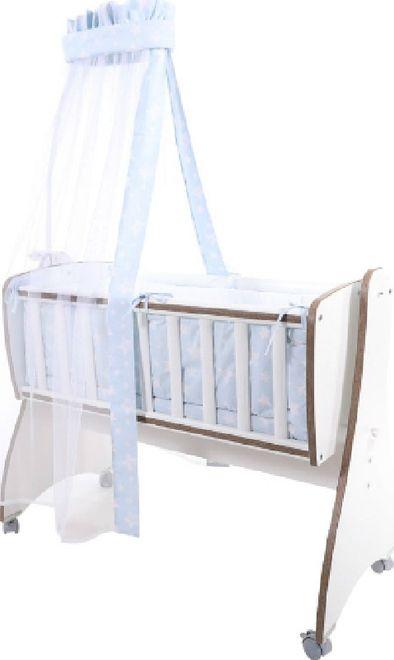 Σετ Προίκας 7 τεμαχίων για Λίκνο First Dreams Blue Stars 20051160004 Lorelli