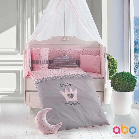 Σετ προίκας 9τμχ 70X140 Little Princess Pink ABO
