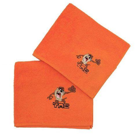 Viopros Παιδικές Πετσέτες Σετ 2 Τεμ 50X80 70X130 Taz Πορτοκαλί