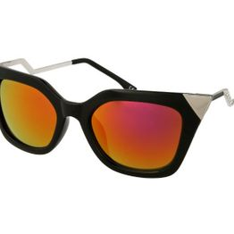 Sunglasses Alensa Cat Eye Shiny Black Mirror