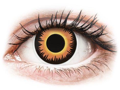 ColourVUE Crazy Lens - Orange Werewolf - Μη διοπτρικοί Ετήσιοι φακοί επαφής (2 φακοί)