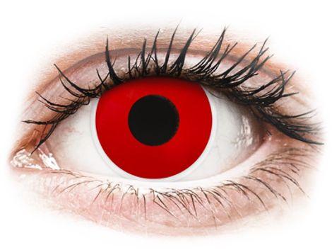 ColourVUE Crazy Lens - Red Devil - Μη διοπτρικοί Ετήσιοι φακοί επαφής (2 φακοί)
