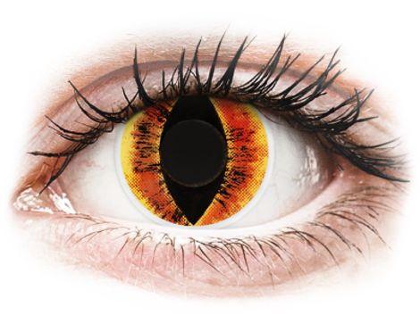 ColourVUE Crazy Lens - Saurons Eye - Μη διοπτρικοί Ετήσιοι φακοί επαφής (2 φακοί)