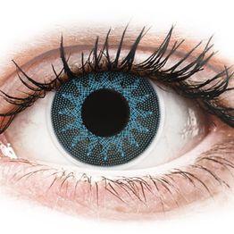 ColourVUE Crazy Lens - Solar Blue - Μη διοπτρικοί Ετήσιοι φακοί επαφής (2 φακοί)
