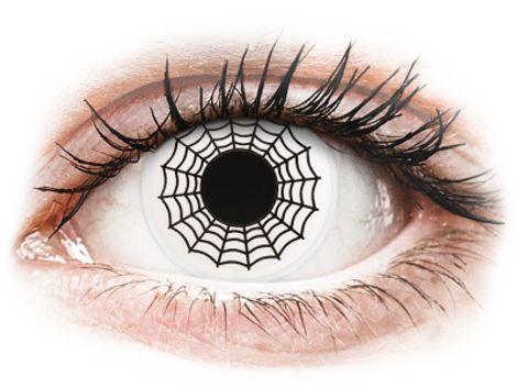 ColourVUE Crazy Lens - Spider - Μη διοπτρικοί Ετήσιοι φακοί επαφής (2 φακοί)