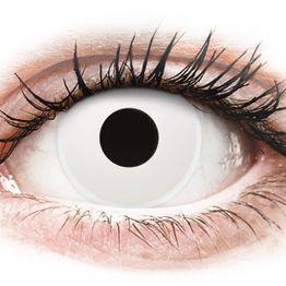 ColourVUE Crazy Lens - WhiteOut - Μη διοπτρικοί Ετήσιοι φακοί επαφής (2 φακοί)