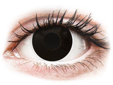 ColourVUE Crazy Lens - BlackOut - Διοπτρικοί Τριμηνιαίο φακοί επαφής (2 φακοί)