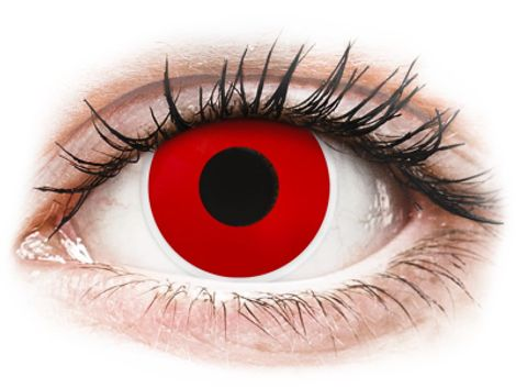 ColourVUE Crazy Lens - Red Devil - Διοπτρικοί Τριμηνιαίο φακοί επαφής (2 φακοί)