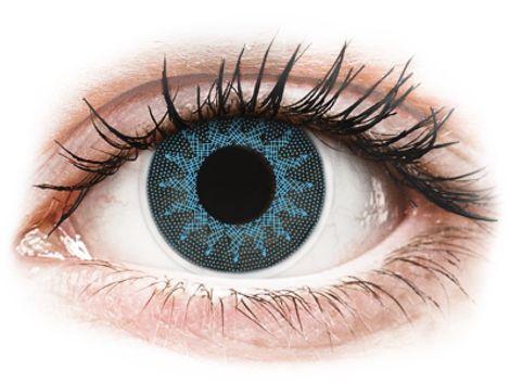 ColourVUE Crazy Lens - Solar Blue - Διοπτρικοί Τριμηνιαίο φακοί επαφής (2 φακοί)