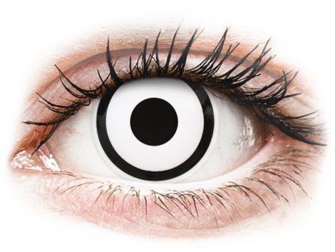 ColourVUE Crazy Lens - White Zombie - Διοπτρικοί Τριμηνιαίο φακοί επαφής (2 φακοί)