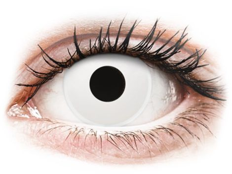 ColourVUE Crazy Lens - WhiteOut - Διοπτρικοί Τριμηνιαίο φακοί επαφής (2 φακοί)